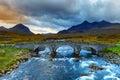 Sligachan Glen, Marsco mountain, Skye, Inner Hebrides in Highlands, Scotland. Royalty Free Stock Photo