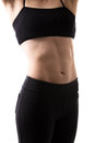 Slim female torso Royalty Free Stock Photo