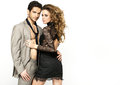 Slim woman wearing nice dress and her stylish boyfriend lady Royalty Free Stock Images