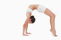 Slim woman in yoga position Royalty Free Stock Photography