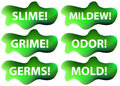 Slime Icon Set Stock Images