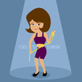 Slimming lady with measuring tape illustration design eps Royalty Free Stock Images