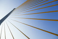 Slings is the structure of the bridge. Stock Photography