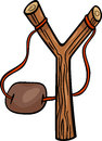 Slingshot clip art cartoon illustration of Stock Photos