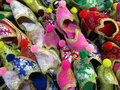 Slippers group of colorful taken on an market in turkey Royalty Free Stock Photography
