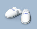 Slippers vector illustration eps transparent objects and opacity masks used for shadows and lights drawing Stock Photo