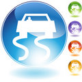 Slippery Road Crystal Icon Royalty Free Stock Photo