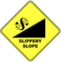 Slippery slope sign Royalty Free Stock Photos