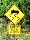 Slippery When Wet sign Royalty Free Stock Photo