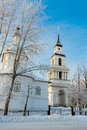 Slobodskoy bell tower winter view of the in the town square of russia Stock Photography