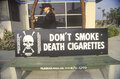 Slogan d'Anti-cigarette Photographie stock