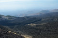 Slope covered with volcanic lava hardened mount etna is one of sicily s main tourist attractions there are field of and remote Stock Photos