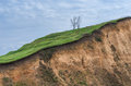 Slope of the hill in section Royalty Free Stock Image