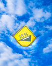 Slope sign per cent traffic of the uphill Royalty Free Stock Image