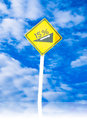 Slope sign per cent traffic of the uphill Stock Photography
