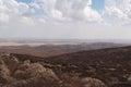 Slopes of Hebron mountain with Negev desert Royalty Free Stock Photo