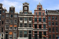 Sloping houses in Amsterdam Royalty Free Stock Photo