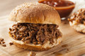 Sloppy Barbecue Beef Sandwhich Stock Photo