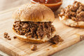 Sloppy Barbecue Beef Sandwich Royalty Free Stock Image