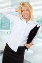Sloppy businesswoman Royalty Free Stock Photography