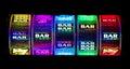 Slot Bars Royalty Free Stock Photo