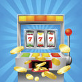 Slot fruit machine winning Stock Photo