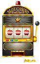 Slot machine with apples illustration Royalty Free Stock Image