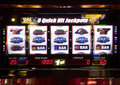Slot machine displaying a prize Royalty Free Stock Photography