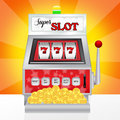 Slot machine illustration of super Stock Images