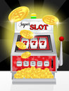 Slot machine illustration of super Royalty Free Stock Photos