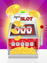 Slot machine illustration of super in the casino Royalty Free Stock Image