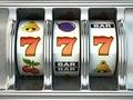 Slot machine with jackpot. Casino concept. Royalty Free Stock Photo