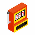 Slot machine jackpot isometric 3d icon Royalty Free Stock Photo