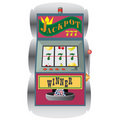 Slot machine with winning combination. Royalty Free Stock Photo
