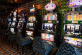 Slot machines in play room at liner Costa Luminosa Royalty Free Stock Photo