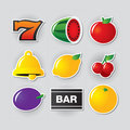 Slot symbols set 1. Royalty Free Stock Photo