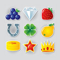 Slot symbols set 2 Royalty Free Stock Photo