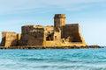 Slott av le castella calabria italien Royaltyfri Fotografi