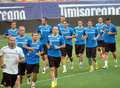 Slovakia football team official training slovakian players pictured during the before the international friendly match between Stock Images