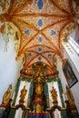Interior of famous Red Monastery called Cerveny Klastor in Pieniny mountains, Slovakia