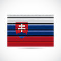 Slovakia siding produce business company icon illustration Royalty Free Stock Photo