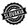 Slovakia stamp rubber grunge