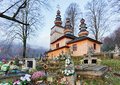 Slovakia - wooden church in Hunkovce near Svidnik