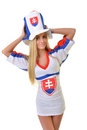 Slovakian Fan Royalty Free Stock Photo