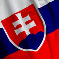 Slovakian Flag Closeup Royalty Free Stock Photography