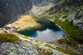 Slovakian spiski lakes tatry mountains beautiful five spiskie valley in beautiful panorama chata teryho kotlina piatich spisskych Stock Photos