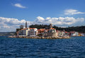 Slovenia adriatic sea coast landscape in Portoroz. Royalty Free Stock Photo