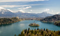 Slovenia bled as most famous tourist attraction in Royalty Free Stock Photography