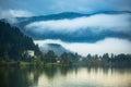 Slovenia europe lake bled mountain view Stock Photos