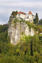 Slovenia medieval castle of bled Royalty Free Stock Images